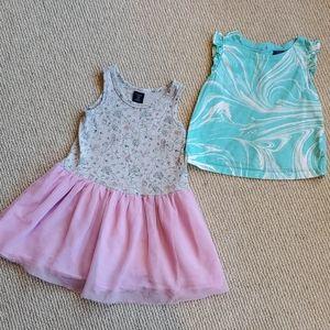 Baby Gap dress and tunic top bundle